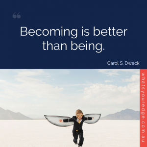 WYE Book Quote - Carol Dweck - Mindset