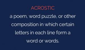Definition of acrostic