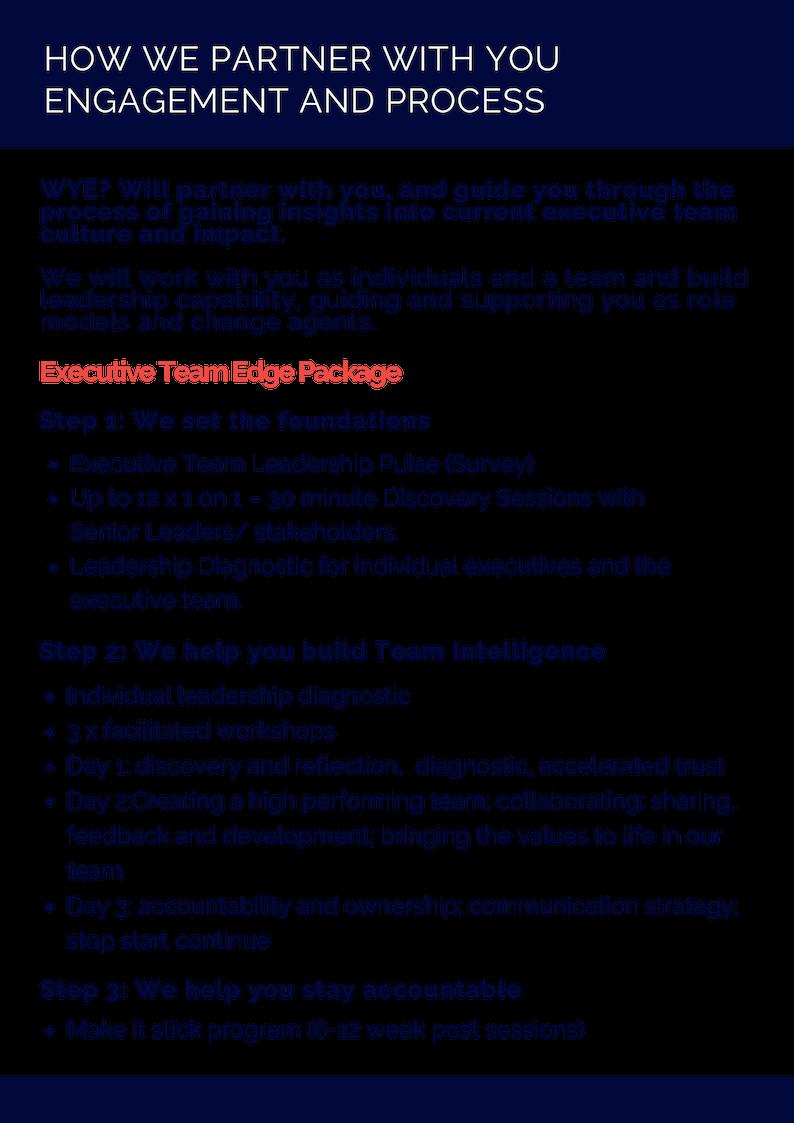 Executive Team Edge Package