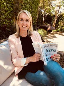 Gabriella Horak reading Brene Brown